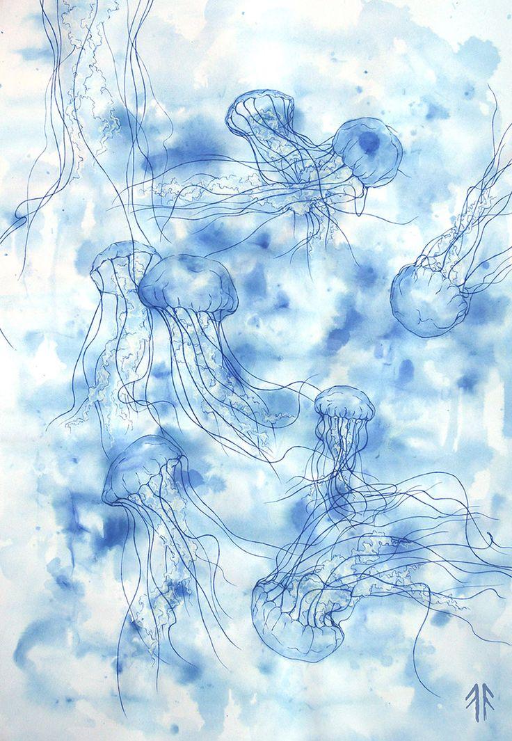 Jellyfish (by Fikus), Ink and Eraser