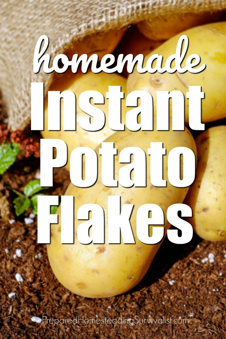 Homemade instant potato flakes are easy to make and having them on hand is a great way to extend the pantry | Prepared Homesteading Survivalist