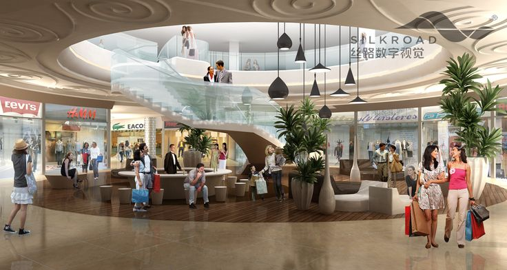 shoping mall interior rendering from silkroad