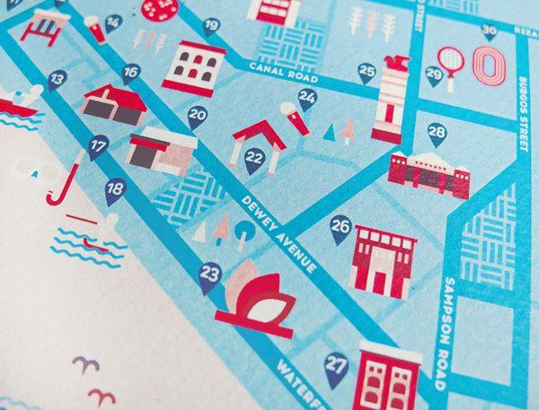 Ad Summit 2014 Subic Map by Joanna Malinis, via Behance