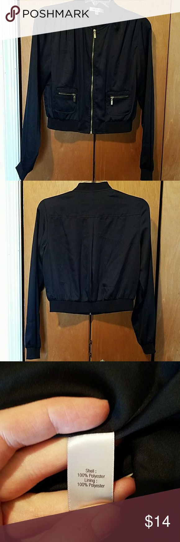 Crop fashion jacket This is a grad add on black with gold detailed zipper pockets cropped jacket is perfect of movie night or just meeting with friends. Works with almost any outfit Jennifer Lopez Other