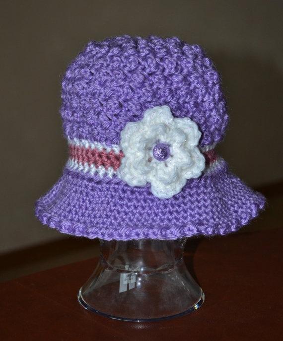 Kelsey Spring Hat Crochet Flower Attached