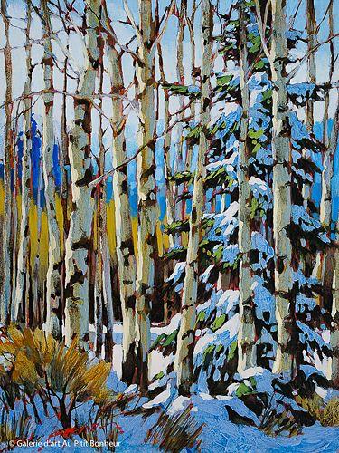 David Langevin, 'February', 9'' x 12'' | Galerie d'art - Au P'tit Bonheur - Art Gallery