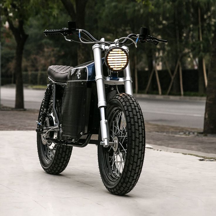 Electric street tracker motorcycle by Shanghai Customs. Probably the best looking e-bike to date?