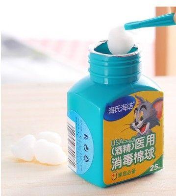 25カウント/ボトル医療アルコールワイプ綿棒パッド滅菌アルコール綿ボール消毒応急処置家庭用タトゥー使用タンポン