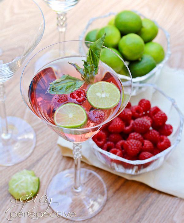 Basil Raspberry Mojito Recipe