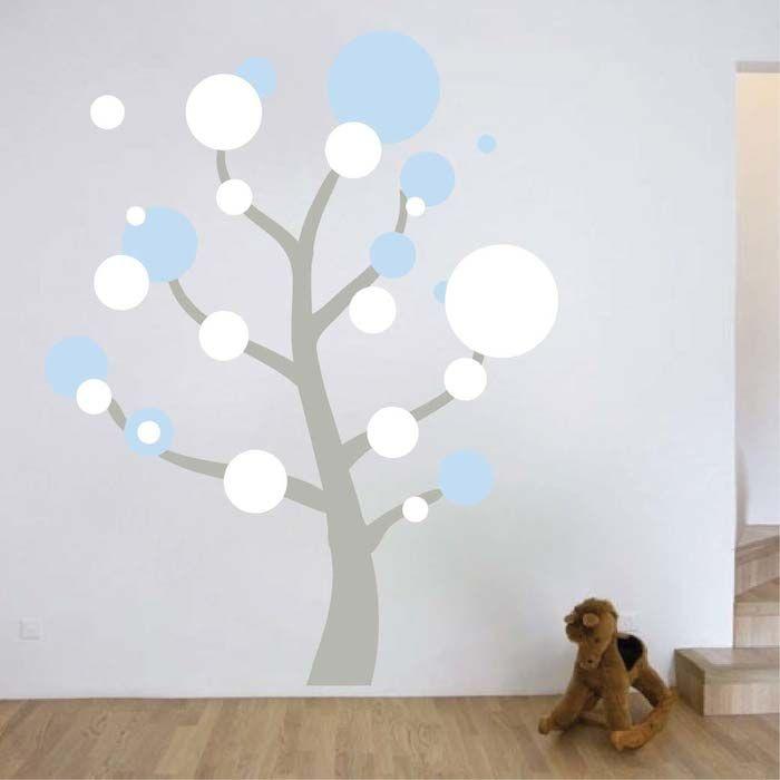 Polka dot tree wall art design wall art designs tree for Design divas wall art