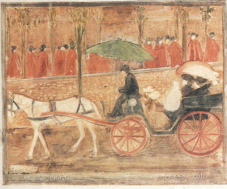 Maurice Prendergast (1858-1924) - Monte Pincio (1898-1899 ...