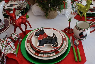 Scottie Dog - table setting. I only have one of the Scottie on skate plates, would love to have four!