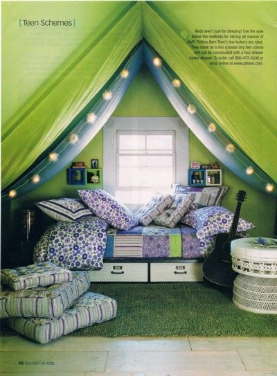 Teen room attic space (Country Collectibles mag #18)