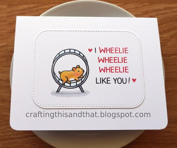 funny card for friend // love card // friendship card // punny valentines card // guinea pig card // animal card