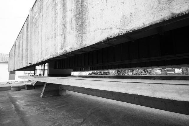 Architect: Kiyonori Kikutake 菊竹清訓  Location: Kurume, Fukuoka, Japan  Completion year: 1965