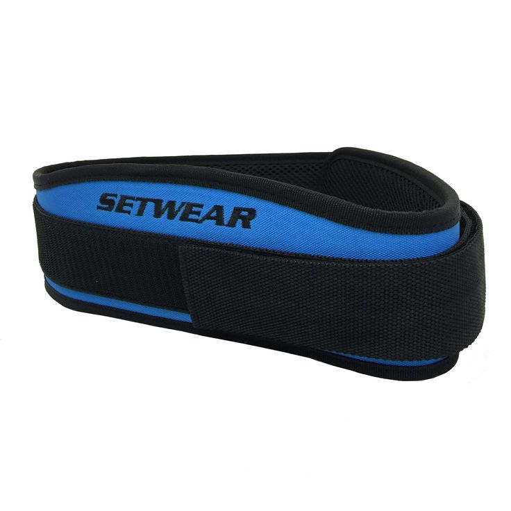 """Fitness Belt for Weightlifting,Olympic Lifting, Powerlifting, Squats, Deadlift - Setwear Belt- Adjustable W/ Back Support- Men & Women - Crossfit Workout Gear (Blue, L/XL: 34""""-42""""). <b> HIGHEST QUALITY MATERIALS- </b>Heavy duty steel roller buckle with premium sticky Velcro. Long lasting and great fit. Adjustable fitting gives great support and comfort for heavy lifts. <b> COMFORTABLE AND ADJUSTABLE-</b> Full lumbar support with superior comfort. Back wedge provides compression and…"""