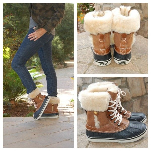 Luxe Duck Boot by Crocs: timeless, lightweight and comfortable. Perfect for running around in the snow