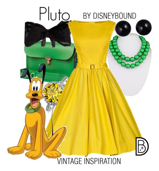"""""""Pluto"""" by leslieakay ❤ liked on Polyvore featuring N'Damus, Fornash, Coast, Lord & Taylor, Bling Jewelry, disney and disneybound"""