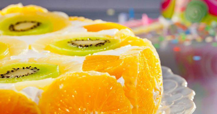Tort bavarez cu fructe