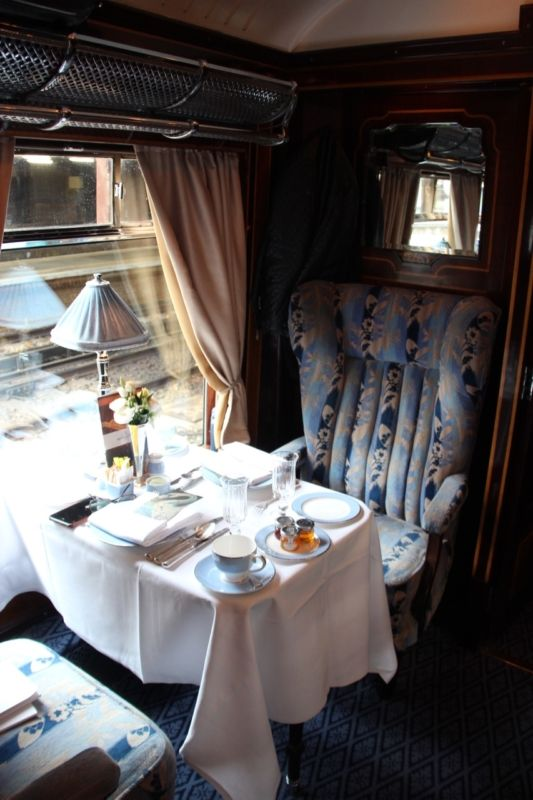 Ready for Brunch on Belmond British Pullman Cygnus Carriage, the start of the Venice Simplon Orient Express luxury train experience from London to Berlin