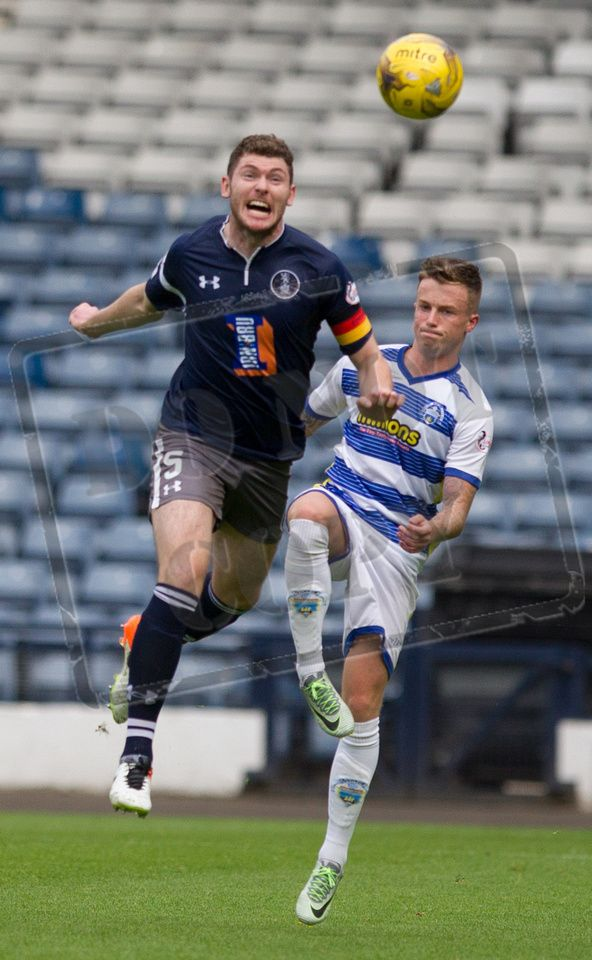 Queen's Park's Ryan McGeever in action during the IRN-BRU Cup game between Queen's Park and Morton.
