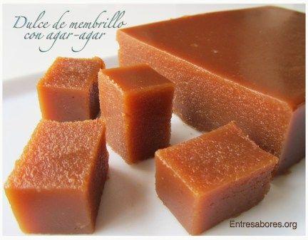 Dulce de membrillo con agar-agar