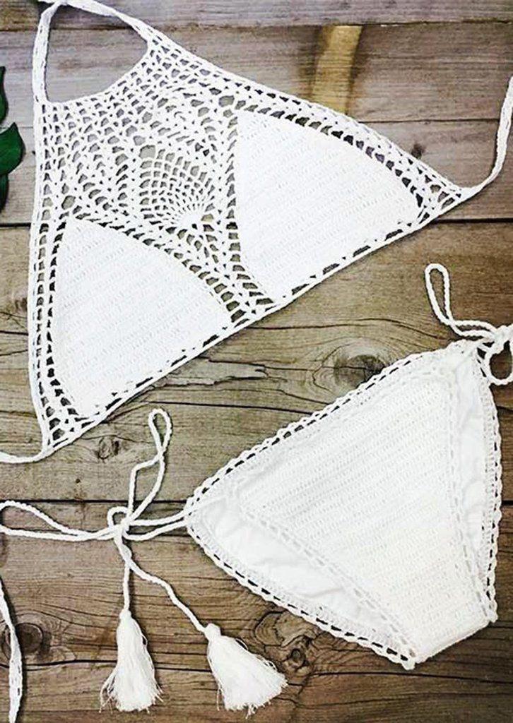 Cupshe Sweet Nothings Crochet Bikini Set