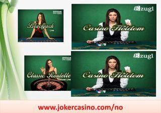 Direkte kasino, mobilkasino  Med trenden på kasinoet, gjør mange gamblingelskere ytterste innsats for å vinne jackpotten. I dag har mobilkasino grepet oppmerksomheten til mange mennesker, ettersom de tillater dem å spille kasino på egen hånd.  https://www.jokercasino.com/no/