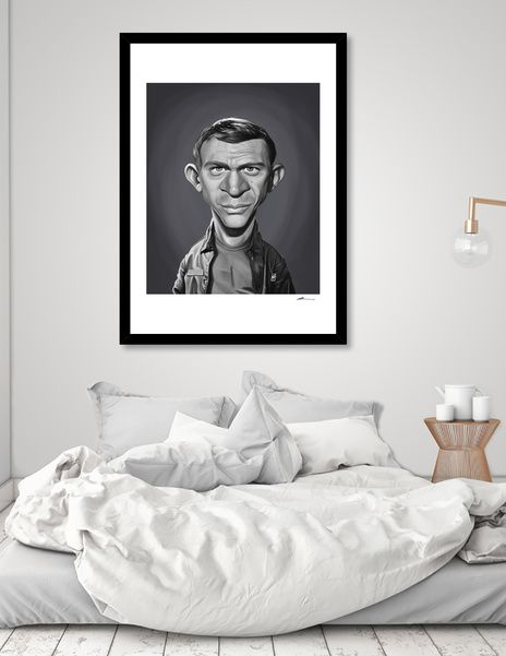 Discover «Steve McQueen», Numbered Edition Fine Art Print by rob art | illustration - art | decor | wall art | inspiration | caricature | home decor | idea | humor | gifts