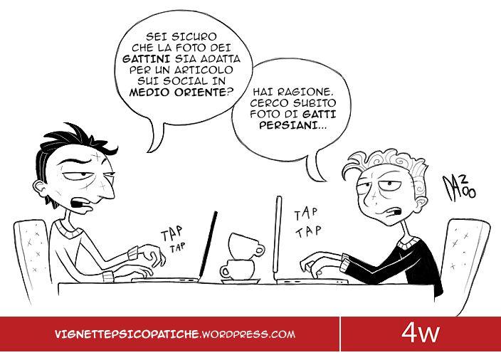 Un copywriter e un Art Director lavorano ad un articolo di Social Media Marketing e...  #dan8 #vignette #4writing #socialmediamarketing #copywriter #artdirector #ironia #umorismo #socialmedia #grafica