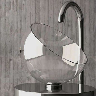 Moon Glass Wash Basin From Pure Crystal Part 84