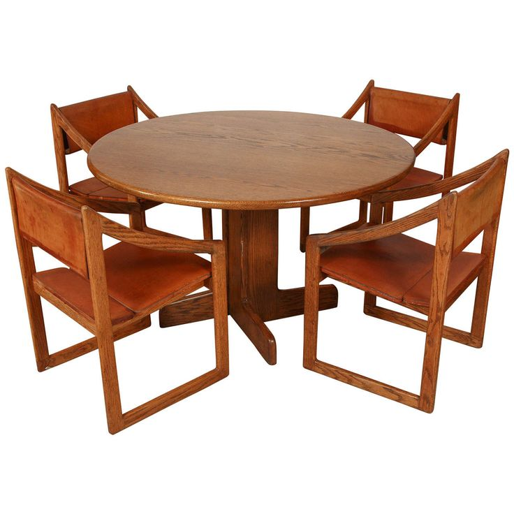 Gerald McCabe Oak Dining Set | From a unique collection of antique and modern dining room sets at https://www.1stdibs.com/furniture/tables/dining-room-sets/