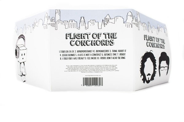 CD design Flight of the Conchords by Emma Takiwa, via Behance