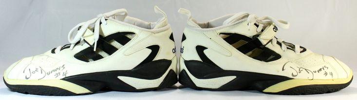 Pair of (2) Joe Dumars Signed Vintage Game Worn Shoes (JSA COA)