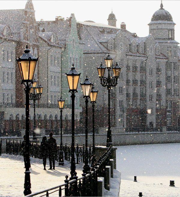 Snowy Day, Kaliningrad, Russia