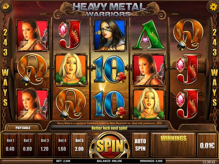 Heavy Metal Warriors - http://freeslots77.com/heavy-metal-warriors/ - Playing a virtual slot game featuring some characters from the popular comic magazine called Heavy Metal will be a great idea. iSoftBet has brought the opportunity for you to get a glimpse of those warriors through its free Heavy Metal warrior online slot game. The five-reel and 243-paylilne...