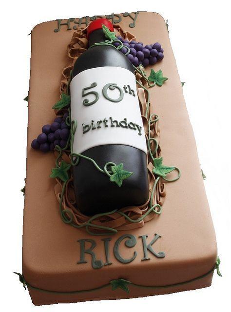 Wine bottle cake: