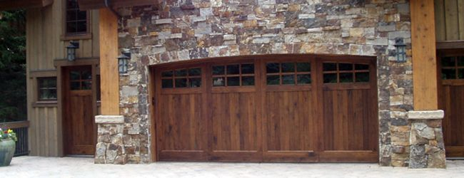 Clopay stained carriage style garage door www.clopay.com