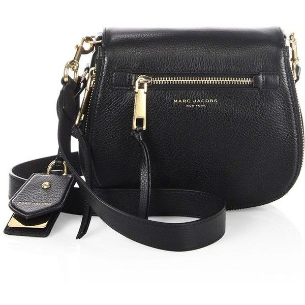 Marc Jacobs Recruit Small Leather Saddle Crossbody Bag (€305) ❤ liked on Polyvore featuring bags, handbags, shoulder bags, leather crossbody purse, leather saddle bags, leather saddle bag crossbody, cross-body handbag and marc jacobs crossbody