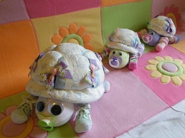 how to Make a turtle diaper cake - Google Search