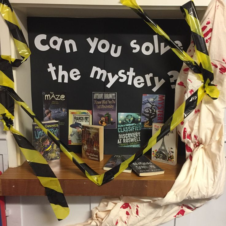 'Can you solve the mystery?' Library Display