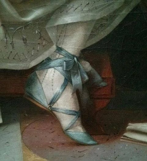 We've been obsessing over the 1790s lately, and Abby is madly in love with these Grecian slippers from a Vigee Lebrun painting. Aren't they just cute as all else?!