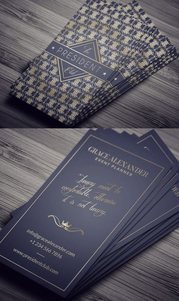 Luxury Business Card Template 194 best Business