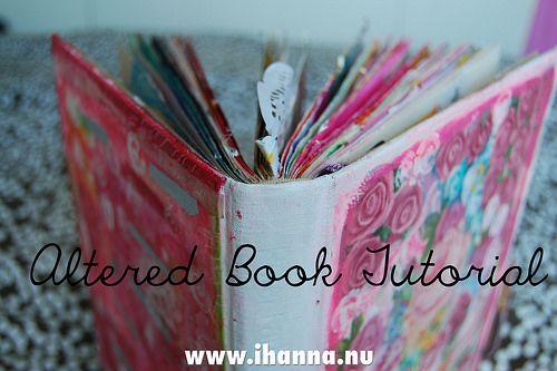 Altered Book Tutorial by iHanna @ihanna #alteredbook #tutorial
