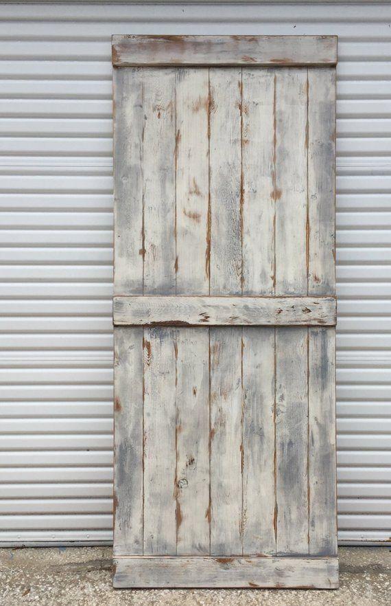 Custom Farmhouse Sliding Barn Door Shabby Chic Barn Door Etsy Old Barn Doors Garage Door Design Barn Door