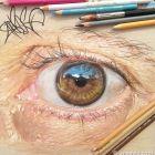 Hiperrealistyczne obrazy oczu - [10 zdjęć]