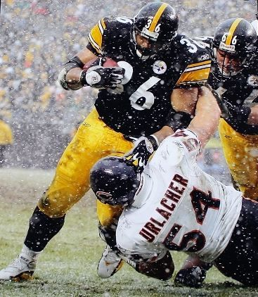 """Jerome Bettis, my favorite runningback! They used to call me """"The Bus"""" when I played little league football. I would run ppl over just like he did lol."""