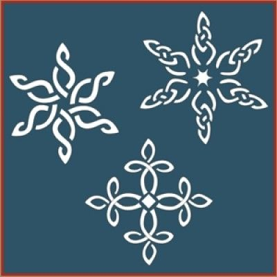 Celtic Snowflake Stencil Set | Christmas and Holiday DIY home decor and crafting stencil from The Artful Stencil! US Shipping in only 5 days. We ship all over the world.