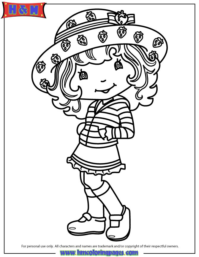 82 best coloring pages images on pinterest coloring for Strawberry shortcake characters coloring pages