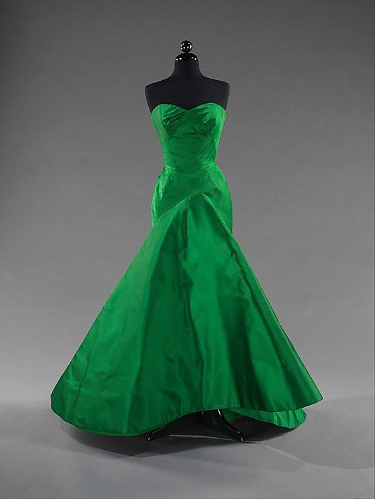 Silk ballgown, Charles James, 1954. Brooklyn Museum Costume Collection at The Metropolitan Museum of Art.