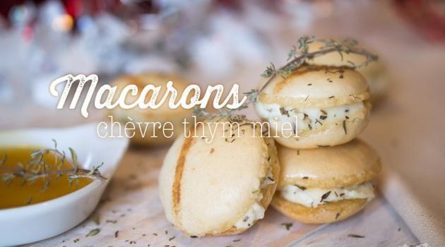 Macarons chèvre thym miel