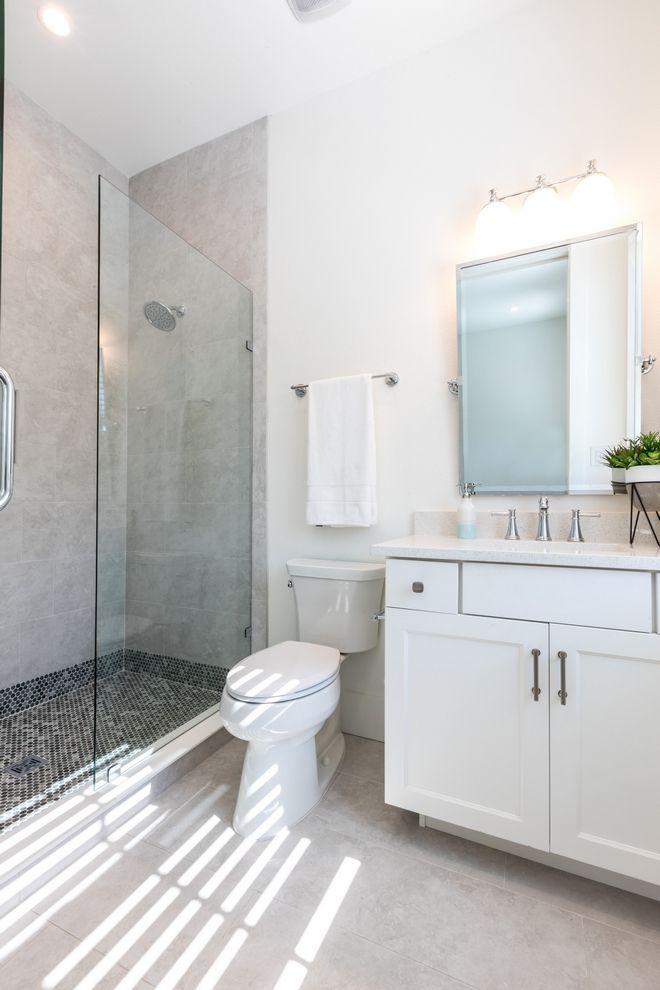 Simple Guest Bathroom Ideas White Tile Floor Interior Decorating Tips Dream Bathrooms