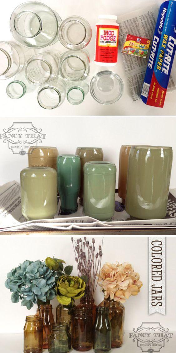 Autumn Tinted Jars